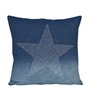 Sanaa Trendy Blue Cotton 16 x 16 Inch Embroidered Cushion Cover