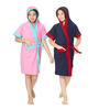Sand Dune Pink & Indigo 10 Year Girls Bathrobe - Set of Two