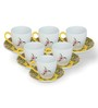 Sanjeev Kapoor Bageecha Yellow Collection Bone China 140 ML Cup & Saucer - Set of 6