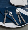 Sanjeev Kapoor Willow Stainless Steel Dessert Fork - Set Of 6