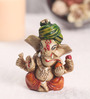 Sanskruti Multicolour Polyresin Small Ganesh with Turban Statue