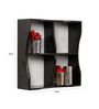 Santa Iria Contemporary Wall Shelf Wall Shelf in Black by CasaCraft