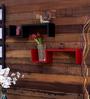 Santa Paula Contemporary Wall Shelf in Multicolor by CasaCraft