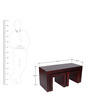 Olney Coffee Table Set in Passion Mahogany Finish by Woodsworth
