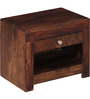 Rochester Bed Side Table in Provincial Teak Finish by Woodsworth