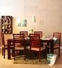 Winona Six Seater Dining Set in Honey Oak Finish by Woodsworth