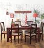 Winona Six Seater Dining Set in Passion Mahogany Finish by Woodsworth