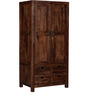 Tulsa Wardrobe in Provincial Teak Finish by Woodsworth
