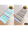 Saral Home Blue & Grey Cotton 72 x 28 Inch Premium Quality Multi Purpose Rug - Set of 2