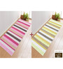 Saral Home Green & Pink Cotton 72 x 28 Inch Premium Quality Multi Purpose Rug - Set of 2