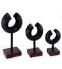 Savvy Art Black Iron & Wood Metropolis Candle Stand - Set of 3