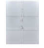 Scoop High Gloss Four Door Wardrobe in White Colour by @home
