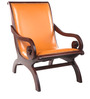 Scrol chair with Teak Wood frame by Tube Style