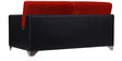 Seto Two Seater Sofa in Red & Black Colour by Home City