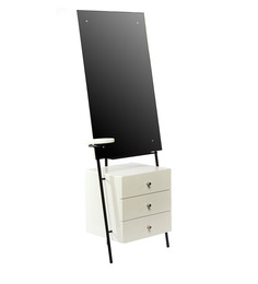 Self Potrait Dressing Table in White Colour by Tube Style