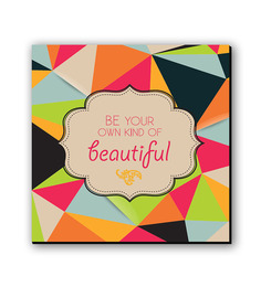 Seven Rays Multicolour Fibre Board Be You Fridge Magnet