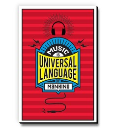 Seven Rays Music Is The Universal Language Of Mankind Fridge Magnet