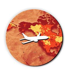 Seven Rays Plane Around The Globe Fridge Magnet