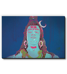 Seven Rays Multicolour MDF Shiva Fridge Magnet