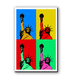 Seven Rays Statue Of Liberty Pop Art Fridge Magnet
