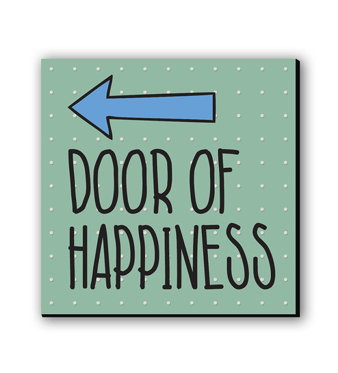 Seven Rays Door Of Happiness Fridge Magnet