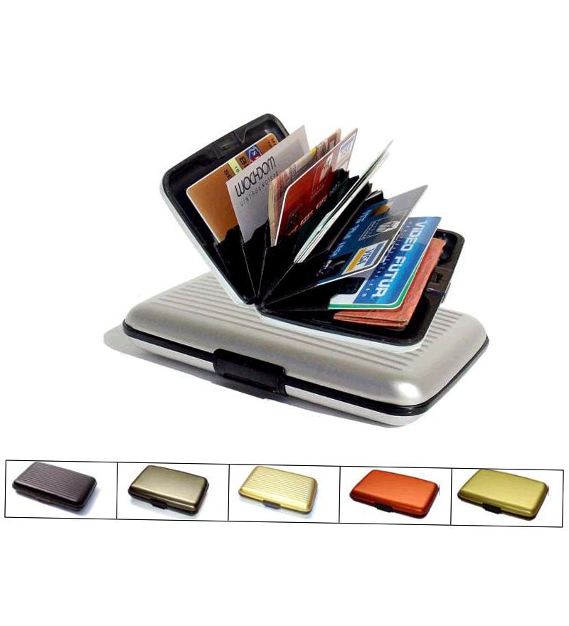 Security Wallet Aluminum Data Secure Credit ATM Business Card ...