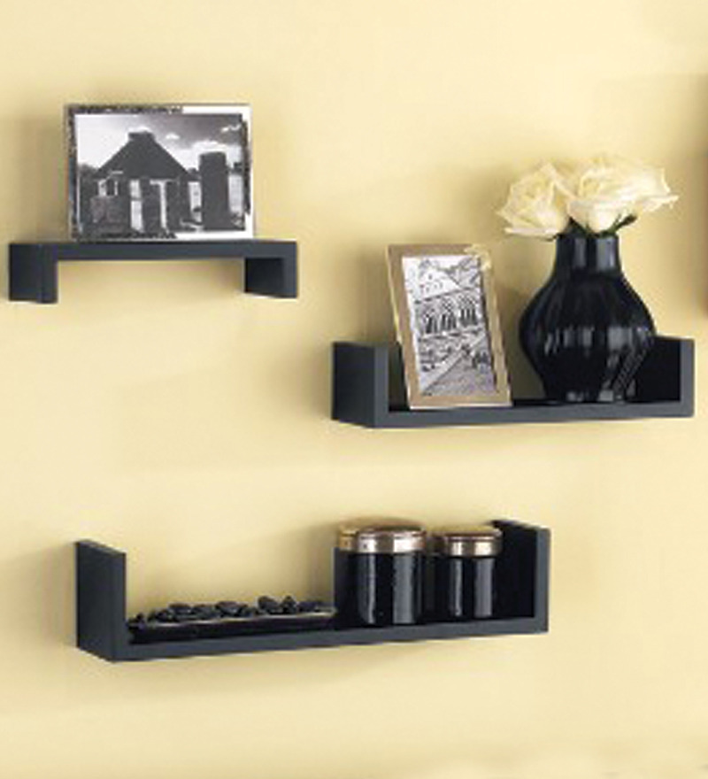 Wall Shelf Home Decor : Set of mango wood wall shelves by home sparkle