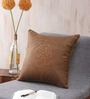 Seasons Lifestyle Brown Polyester 16 x 16 Inch Cushion Cover