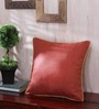 Seasons Lifestyle Red Cotton & Viscose 16 x 16 Inch Cushion Cover