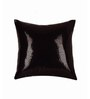 SEJ by Nisha Gupta Black Silk 16 x 16 Inch Cushion Cover