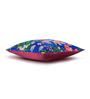 Sej by Nisha Gupta Blue Cotton 16 x 16 Inch HD Digital Premium Royal Floral Cushion Covers - Set of 5