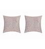 SEJ by Nisha Gupta Grey Silk 16 x 16 Inch Yellow Cushion Covers - Set of 2