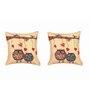SEJ by Nisha Gupta Multicolor Silk 16 x 16 Inch Cushion Covers - Set of 2