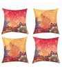 SEJ by Nisha Gupta Multicolor Silk 16 x 16 Inch Cushion Covers - Set of 4