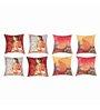 SEJ by Nisha Gupta Multicolor Silk 16 x 16 Inch Cushion Covers - Set of 8
