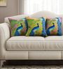 Sej by Nisha Gupta Multicolour Cotton 16 x 16 Inch Abstract Cushion Covers - Set of 3