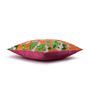 Sej by Nisha Gupta Orange Cotton 16 x 16 Inch HD Digital Premium Floral Cushion Cover - 1pc