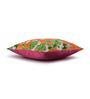 Sej by Nisha Gupta Orange Cotton 16 x 16 Inch HD Digital Premium Floral Cushion Covers - Set of 2