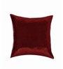 SEJ by Nisha Gupta Red Silk 16 x 16 Inch Cushion Cover