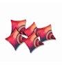 Sej by Nisha Gupta Red Silk 16 x 16 Inch HD Digital Print Cushion Covers - Set of 5