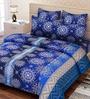 SEJ by Nisha Gupta Blue Double Bed Sheet Set