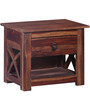 Belmont Bed Side Table in Provincial Teak Finish by Woodsworth