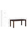 Frazer Six Seater Dining Set in Provincial Teak Finish by Woodsworth