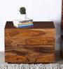 Sequim Sheesham Wood Bed Side Table in Warm Walnut Finish by Woodsworth