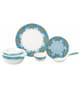 Servewell Adorn Blue Melamine Dinner Set - Set of 22