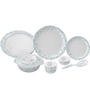 Servewell Aqua Melamine Round Dinner Set - Set of 29