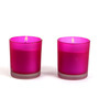 Hosley Radiant Orchid Scent Purple Glass Candle - Set of Two