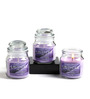 Hosley Lavender Aroma Purple Jar Candle - Set of 3
