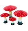 Wonderland Garden Mushroom - Set of 5