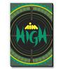 Seven Rays Green MDF Aim High! Fridge Magnet